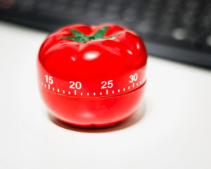 The Pomodoro Technique -- A tomato shaped kitchen timer